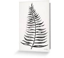 Black Palm Leaf Greeting Card