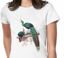 Peacock extravaganza Womens Fitted T-Shirt