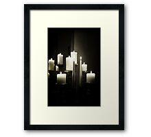 The beauty that is candlelight Framed Print