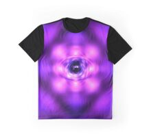 Purple glowing atom Graphic T-Shirt