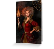Leo zodiac fantasy circle Greeting Card