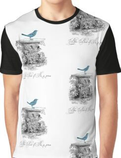 Blue Bird of Happiness Graphic T-Shirt