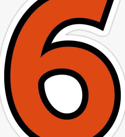 Sport Number 6 Six Sticker