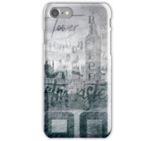 Urban-Art LONDON Houses of Parliament and Red Buses I iPhone Case/Skin
