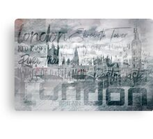 Urban-Art LONDON Houses of Parliament and Red Buses I Canvas Print