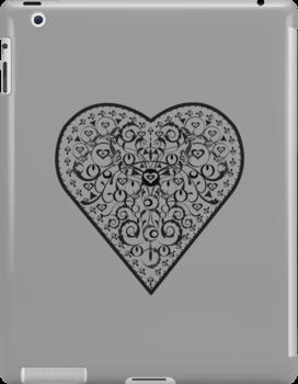 Black Iron Heart ipad by venitakidwai1