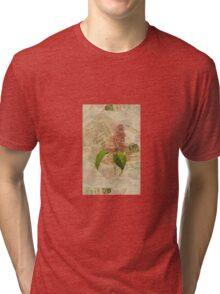 Decoupage lilac iphone Tri-blend T-Shirt