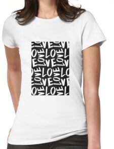 Love in Black&White Womens Fitted T-Shirt