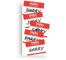 Parks and Rec: Jerry, Garry, Barry... Shirt Canvas Print