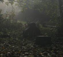 Misty graveyard Sticker