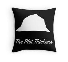 "Sherlock Holmes ""The Plot Thickens"" (White) Throw Pillow"