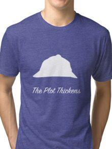 "Sherlock Holmes ""The Plot Thickens"" (White) Tri-blend T-Shirt"