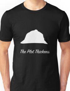 "Sherlock Holmes ""The Plot Thickens"" (White) Unisex T-Shirt"