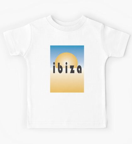 Ibiza, Spain, Spanish, Holiday, Catalan, Eivissa, Island, Mediterranean Sea, Ibitha Kids Tee