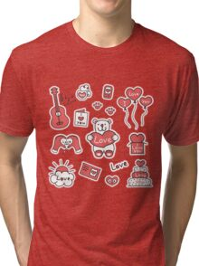 Set of stickers with messages of love Tri-blend T-Shirt