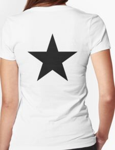 BLACK Star, Dark Star, Black Hole, Stellar, Achievement, Cool, Womens Fitted T-Shirt