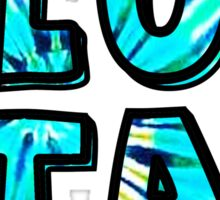 blue star blue tie dye Sticker