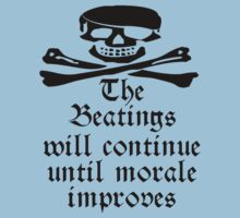 Pirate Morale, Jolly Roger, Pirates, Skull & Crossbones, Buccaneers, Me Harties! On Light Blue Baby Tee