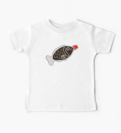 Sushi Soy Fish Pattern in Blue Baby Tee
