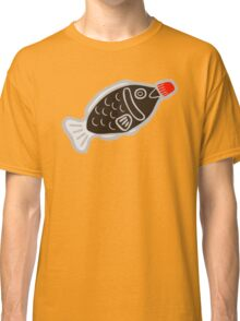 Sushi Soy Fish Pattern in Blue Classic T-Shirt
