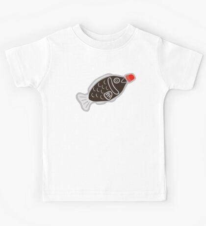 Sushi Soy Fish Pattern in Blue Kids Tee