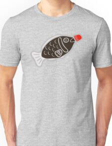 Sushi Soy Fish Pattern in Blue Unisex T-Shirt