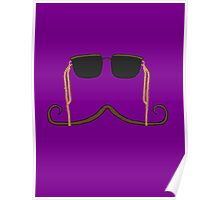 Hipster Mustache and Sunglasses Poster