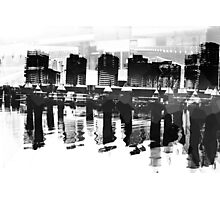 Docklands Melbourne B&W Photographic Print