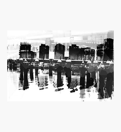 Docklands Melbourne B&W Photographic Print
