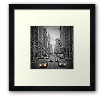 5th NYC Avenue Yellow Cabs Framed Print