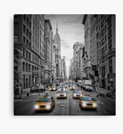 MANHATTAN 5th Avenue Taxis Canvas Print