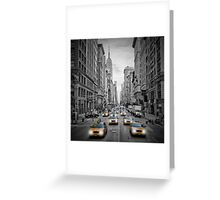 5th Avenue NYC Yellow Cabs Greeting Card