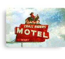 Trail Riders Motel Neon Sign  Canvas Print