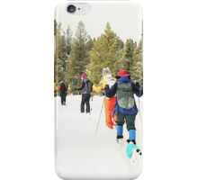 Snowshoe Water Color Affect iPhone Case/Skin