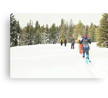 Snowshoe Water Color Affect Metal Print