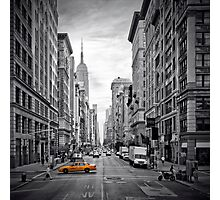 5th NYC Avenue Yellow Cab Photographic Print