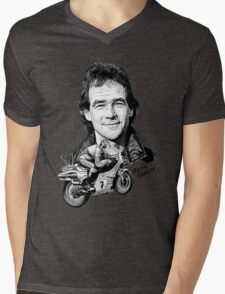 Barry Sheene Motorbike Legend Mens V-Neck T-Shirt