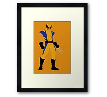 Wolverine Typography Framed Print