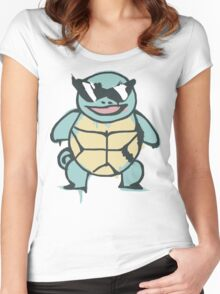 Ash's Squirtle (Squirtle Squad Leader) Women's Fitted Scoop T-Shirt