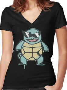 Ash's Squirtle (Squirtle Squad Leader) Women's Fitted V-Neck T-Shirt