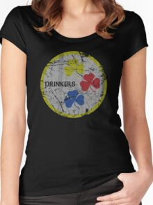 Irish Pittsburgh Drinkers St Patrick's Day Women's Fitted Scoop T-Shirt