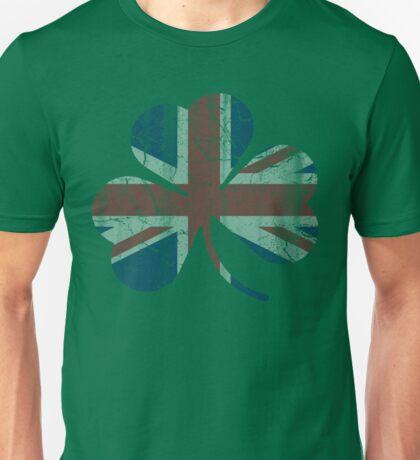 Vintage Irish Union Jack Shamrock Unisex T-Shirt