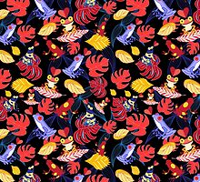 pattern of the lovers frogs by Tanor