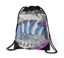 down by the river side Drawstring Bag