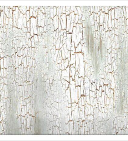 Shabby White Crackle Sticker