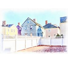 Painted Houses Portsmouth Photographic Print