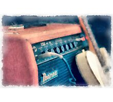 Vintage Guitar Amp Watercolor Photographic Print