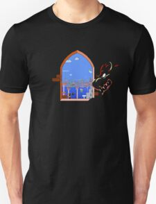 Our Hero Approaches (Black Background) Unisex T-Shirt