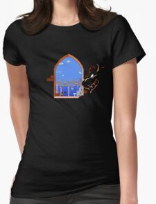 Our Hero Approaches (Black Background) Womens Fitted T-Shirt