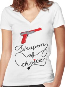 Weapon of Choice (2014 Revamped Version) Women's Fitted V-Neck T-Shirt